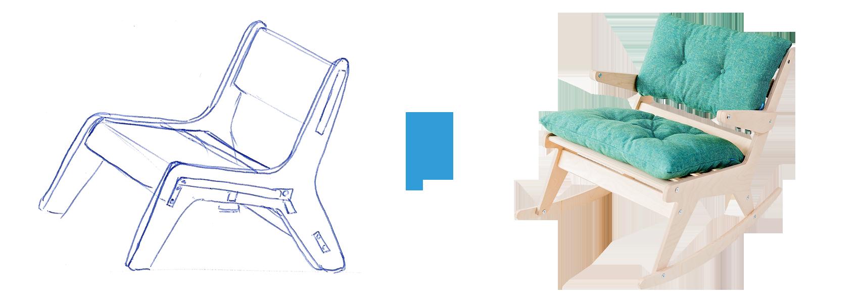 schets naar eindproduct