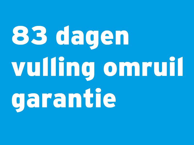 83 dagen vulling omruil garantie